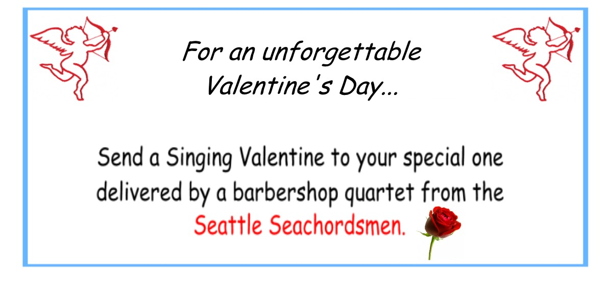 Singing Valentines. Reserve your spot today for a memorable Valentines Day.