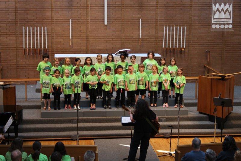 Spring Concert. Mary K McNeill with the Children's Chorus grades Kindergarten- 1st