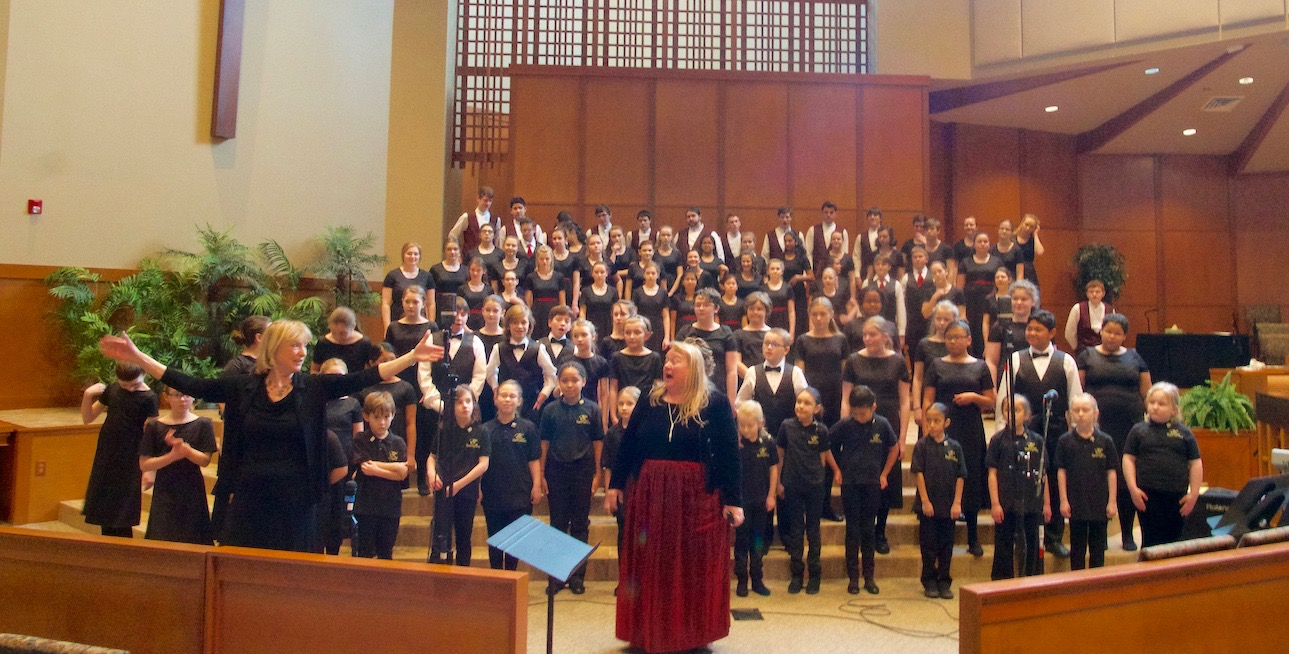 Rainier Youth Choirs. Photo credit: J. Madison, March 2017