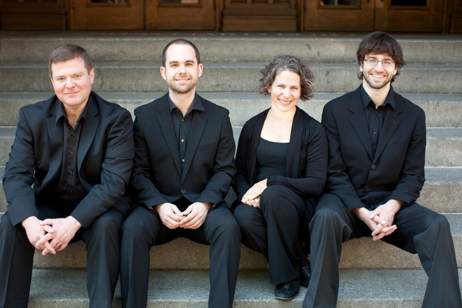 Tacoma Early Music Ensemble. Founding members Jim Brown, Josh Haberman, Anne Lyman and Thomas Thompson. Photo by Danielle Barnum.