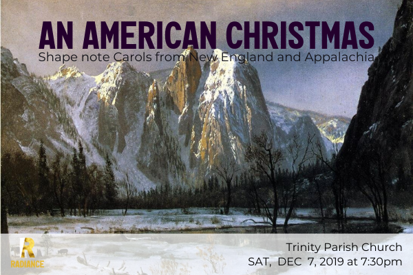 AN AMERICAN CHRISTMAS. Cathedral Rocks, Yosemite Valley, Winter, by Albert Bierstadt