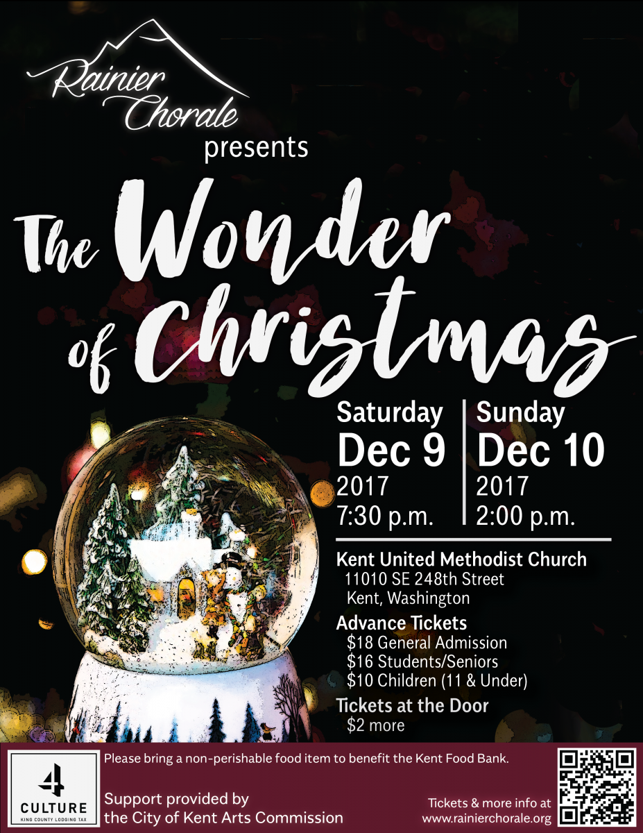 The Wonder of Christmas. Rainier Chorale Holiday Concert