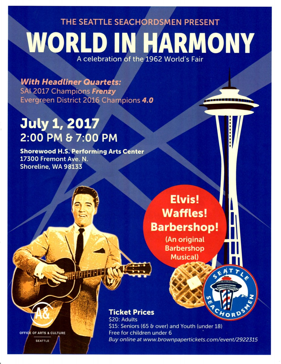 World in Harmony - The SeaChordsmen Summer Show. Show Poster