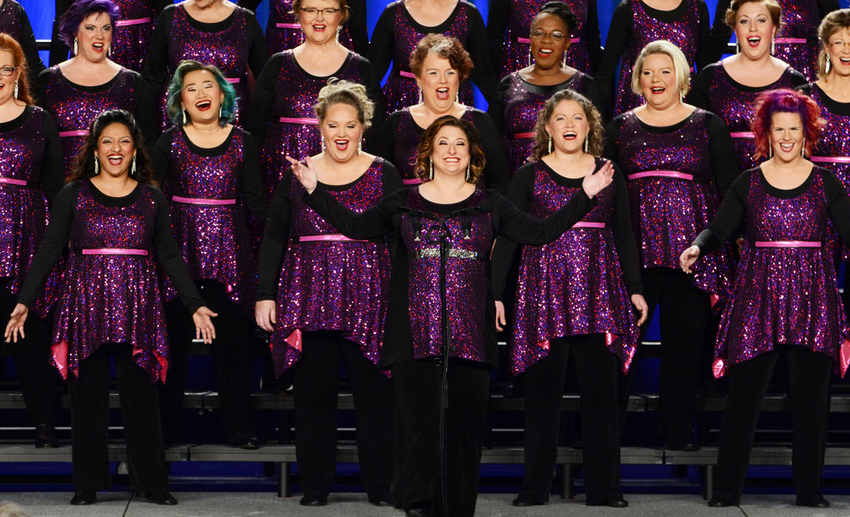 A Cappella Joy Chorus. A Cappella Joy with director Nikki Blackmer