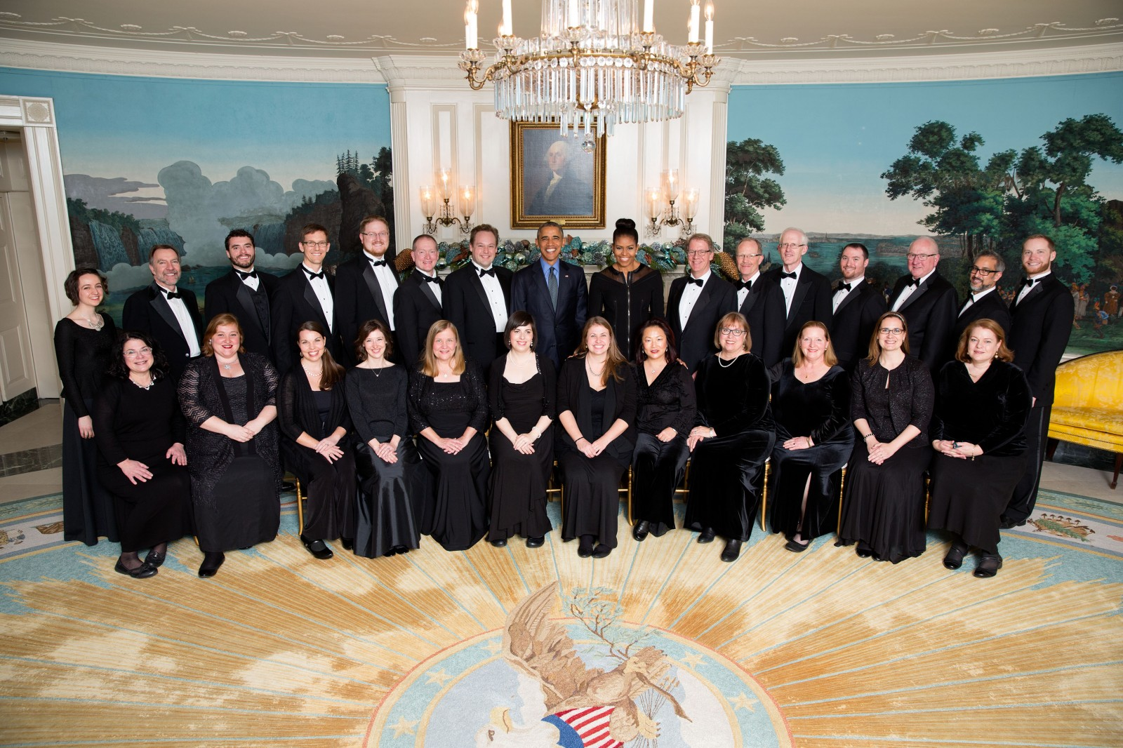 Choral Arts Northwest. CANW with President Barack Obama after a command White House performance, Dec 18, 2015.