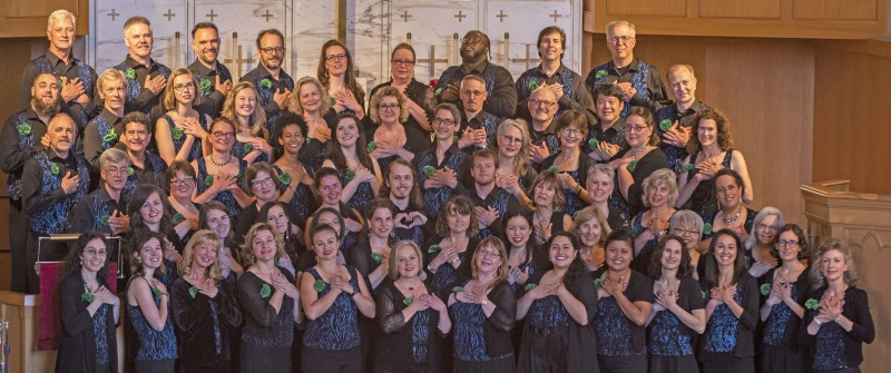 "Northwest Firelight Chorale. ""For The Love of Ireland"" 2019 Spring Concert Group Shot (credit Jonathan Vogel)"