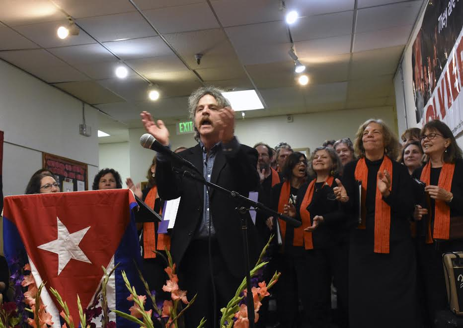 "Seattle Peace Chorus. For the opening of the photographic exhibit ""The Cuban 5 Return: An Entire Country Celebrates"""