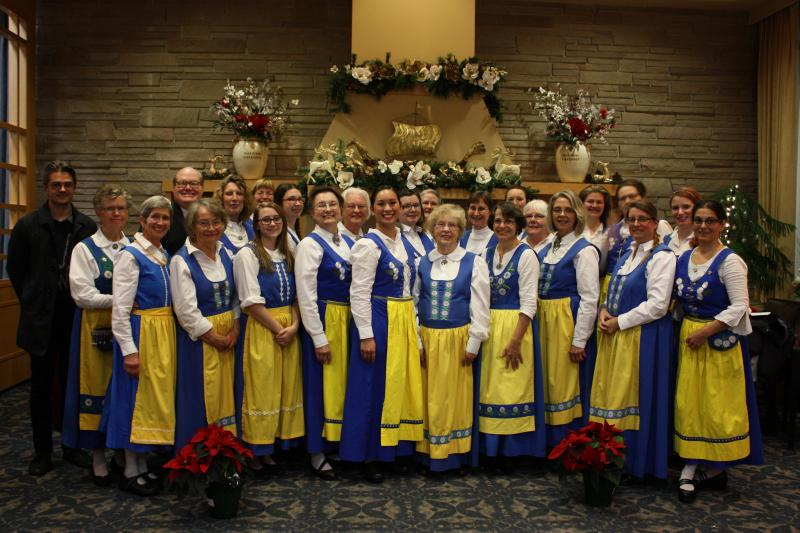 Swedish Singers of Seattle. The Swedish Women's Chorus with accompanist, Aaron Otheim and director, Allan Andrews.
